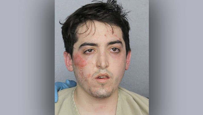 This photo provided by Broward County Sheriff's Office shows Alexander Sperber. A federal judge in Florida has ruled that Sperber., who robbed a bank, stripped naked and ran down the street throwing stolen money into the air is so severely mentally ill, he can't be held responsible for the crime. Chief U.S. District Judge K. Michael Moore found Sperber not guilty by reason of insanity following a 25-minute trial on Wednesday, Jan. 31, 2018. Sperber will remain jailed while receiving mental health treatment. (Broward County Sheriff's Office/ South Florida Sun-Sentinel via AP)
