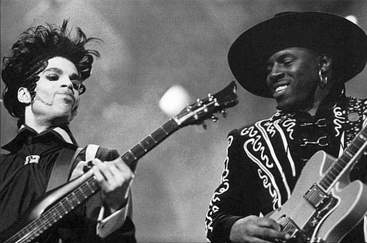 Prince in concert with Levi Seacer, Jr.