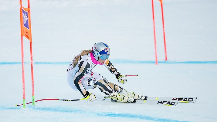 Lindsey Vonn of the U.S. competes for a gold medal in the upcoming Olympics, which start Friday