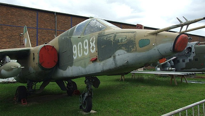 Russian Suchoj Su-25 CAS fighter used by Czechoslovak army (Courtesy photo by Jan Hrdonka)