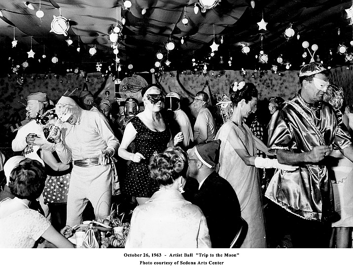 "A very groovy Love-In dance will be held Feb. 10 in celebration of the Sedona Arts Center 60th Anniversary. In this photo is the ""Trip to the Moon"" artist ball that was held in 1963. (Photo courtesy of Sedona Arts Center.)"
