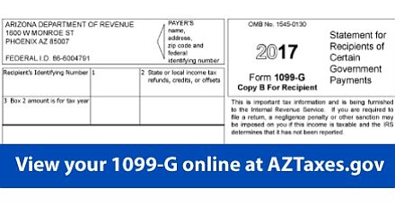 1099 form az  Arizona Department of Revenue makes Form 10-G available ...