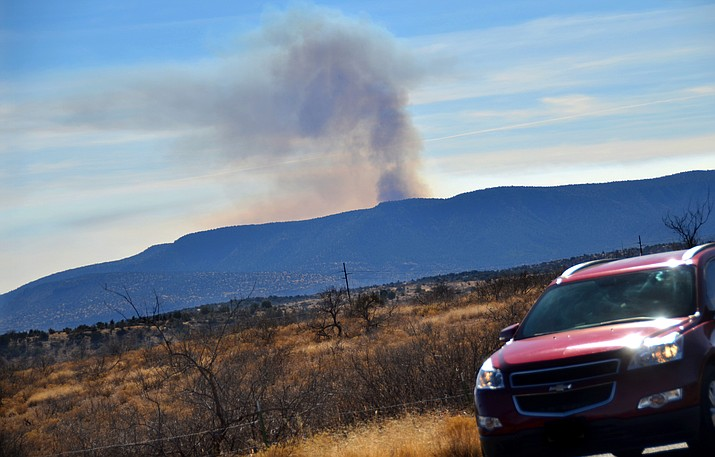 Verde Ranger District fire managers continued fuel treatments east of the junction of Highway 169 and Interstate-17 on Feb. 1. More prescribed burns are scheduled for this week. (VVN/Vyto Starinskas)