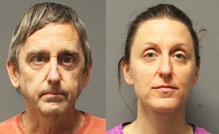 Douglas Gilbert, at left, and his wife Kimberly Korba were arrested on Jan. 31 in the Village of Oak Creek and booked into the Yavapai County jail in Camp Verde, each on a charge of sexual conduct with a minor.