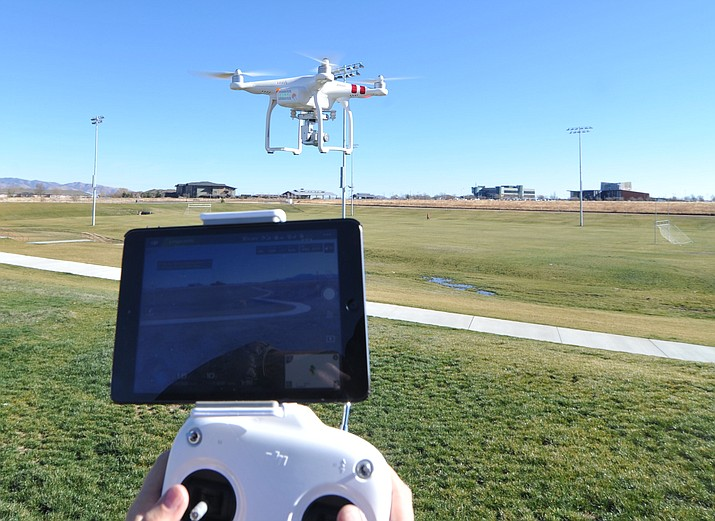 Drones are finding a new place in the Town of Prescott Valley. The council is paying close attention to the public's privacy and safety. (Les Stukenberg/Tribune, file)