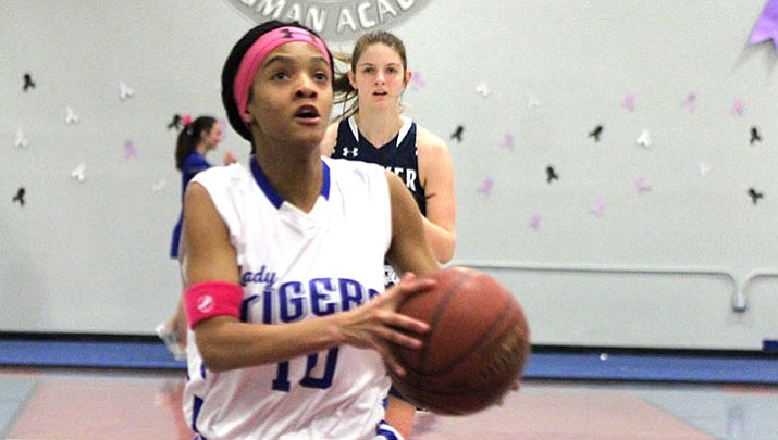 Canya Thompson and the Lady Tigers crushed Antelope Monday night in its regular-season finale.