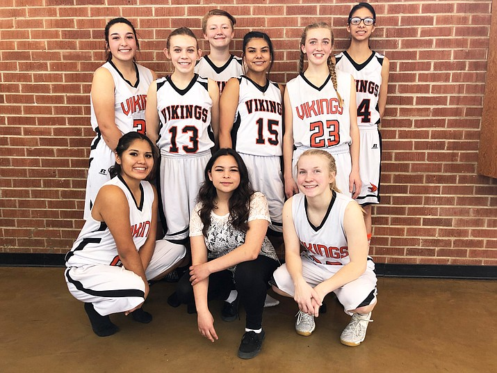 The Vikings junior varsity girls finished the 2017-2018 season Feb. 1.
