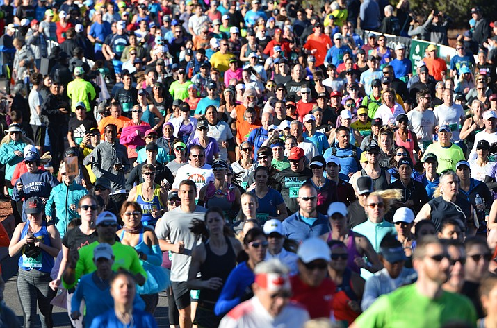 On a perfect 70-degree winter day, registrants from 48 states, and 10 countries raced through Sedona's beautiful red rocks in the 13th annual Sedona Marathon Event presented by Northern Arizona Healthcare. (VVN /Vyto Starinskas)