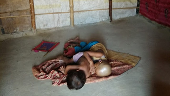A scene from Rohingyan refugee camp in Nuh Hariyan. (Sidheeq)