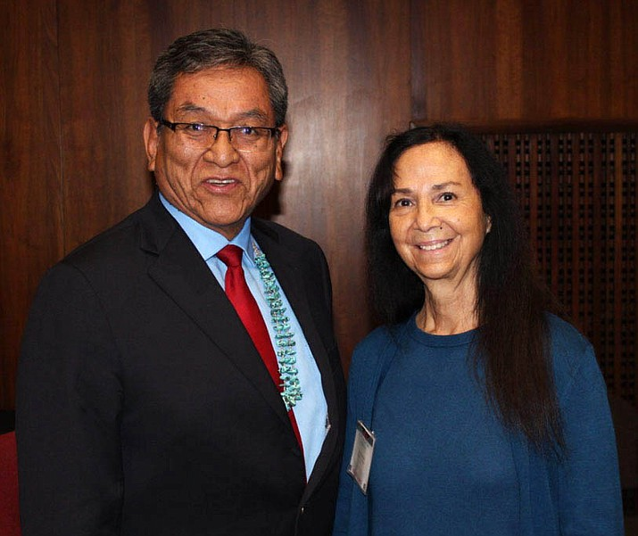 Yavapai-Apache Nation Chairwoman Winiecki with Navajo Nation President Russell Begaye during the Arizona Indian & Tribal Nations Day. (Photo courtesy of Yavapai-Apache Nation)