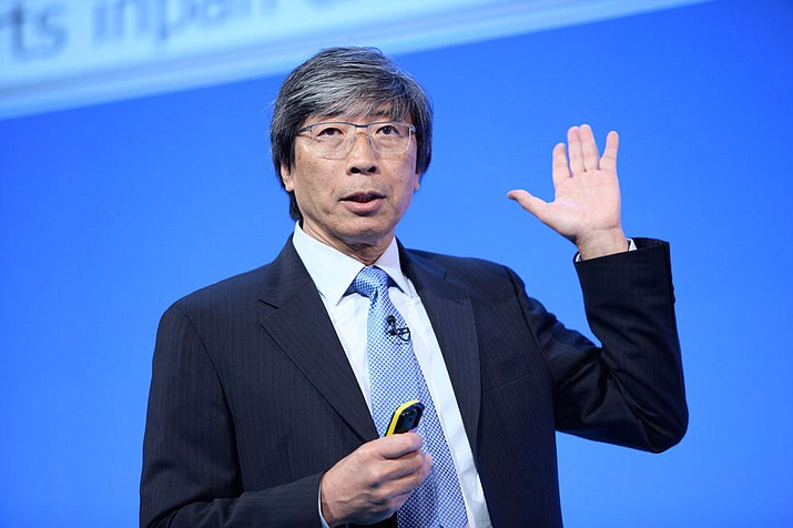Dr. Patrick Soon-Shiong speaks in 2014 at the NHS Confederation conference.
