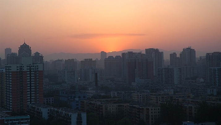 Sunset on the Badaling mountains outside of Beijing. (Courtesy photo)