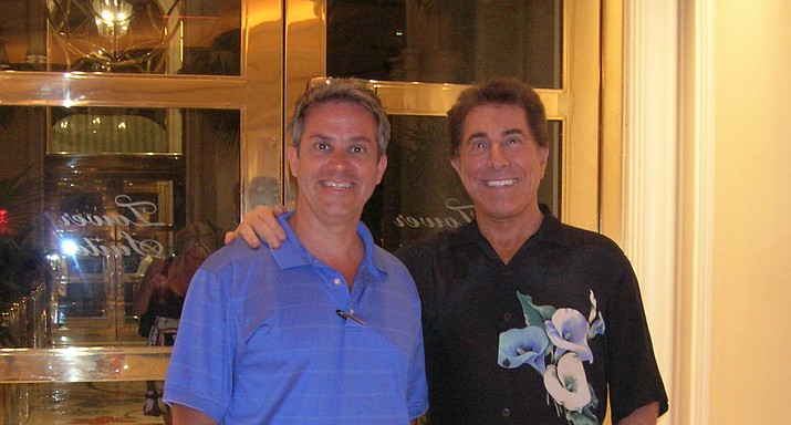 Steve Wynn (on right) with Indianapolis developer Doug Huntley inside the Wynn Resort Las Vegas in 2008. Wynn has stepped down as CEO amid sexual harassment allegations.