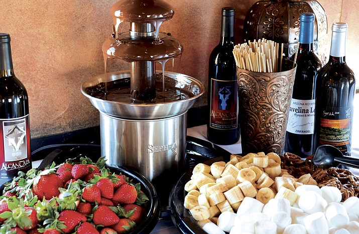 A Belgian chocolate fountain with strawberries, bananas, marshmallows and pretzels for dipping awaits on the Verde Canyon Railroad Chocolate Lovers' Train. (Photo Courtesy of Verde Canyon Railroad)