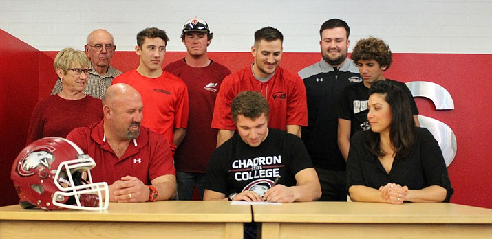 Lee Williams' Kael Juelfs signs his National Letter of  Intent to play for Chadron State College in Nebraska.
