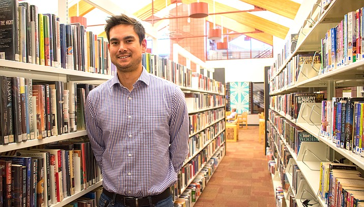 Ryan Bigelow is the new Cottonwood Library Manager following Vanessa Ward's retirement this month. 