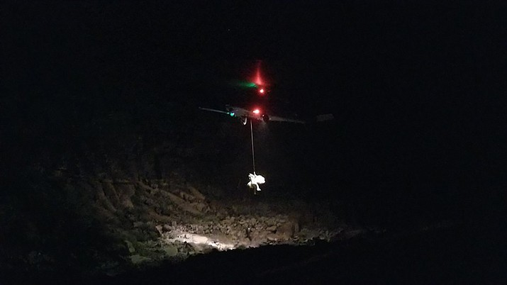 On the evening of Feb. 10, 2018 the Mohave County Sheriff's Office Search and Rescue received a call of a downed civilian helicopter near Grand Canyon West. Searchers were activated and responded to the search area. They were transported by helicopter and joined first responders on scene in the ongoing rescue efforts from the Hualapai Nation EMS, Hualapai Nation Police Department, Kingman DPS helicopter, Flagstaff DPS helicopter, Mercy Air helicopter, CareFlight helicopter, Classic helicopter, and Grand Canyon ARFF personnel. The Air Force also responded. The injured were transported to Las Vegas area hospitals. Rescuers remained on scene overnight until evacuated Sunday morning. In addition, River Medical and Lake Mohave Rancho Fire also responded supporting rescue efforts. (Mohave County Search and Rescue)