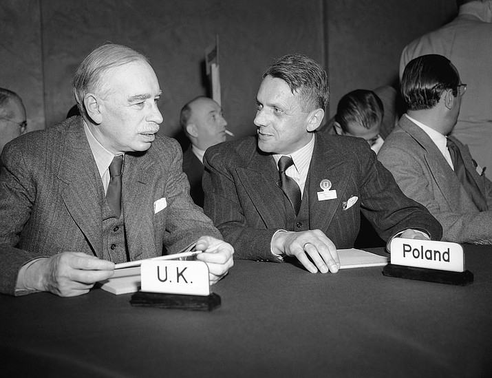 John Maynard Keynes, left, helped start the World Bank and International Monetary Fund. His philosophies on government involvement in the market during bleak times continue to be used today. (AP archive)