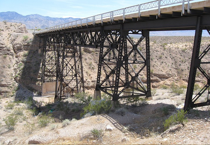 Mohave County Public Works completed an extensive rehabilitation of historic Sand Hollow Bridge in the Beaver Dam area in 2015 at a cost of more than $400,000. A recent report found more than 200 structurally deficient bridges in Arizona. (Courtesy photo)