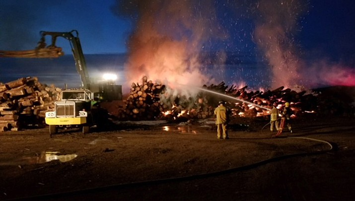 Arson suspected in early morning blaze at Newpac Fibre Mill