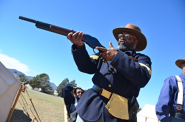 With living history presenters, ceremonies and presentations, and a 1860s-era base ball game, the 12th annual Buffalo Soldiers event will be held from 9 a.m. until 5 p.m. Saturday, Feb. 17 at Fort Verde State Historic Park. (Photos by Vyto Starinskas)
