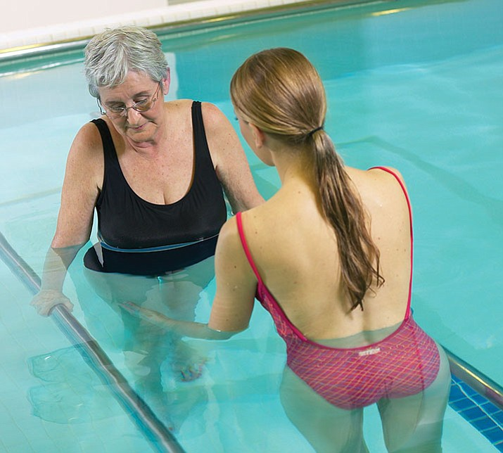 Physical therapy in a pool can help to reduce your pain, improve your strength and endurance, and recover from a recent medical procedure. (MetroGrahics)