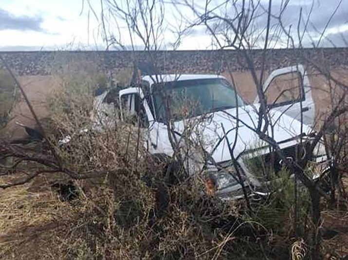 A 70-year-old man was killed when his Ford truck was hit by train in Hackberry early Tuesday morning. (Mohave County Sheriff's Office)