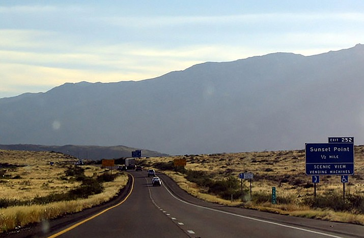 Interstate 17 leading to Sunset Point Rest Area.