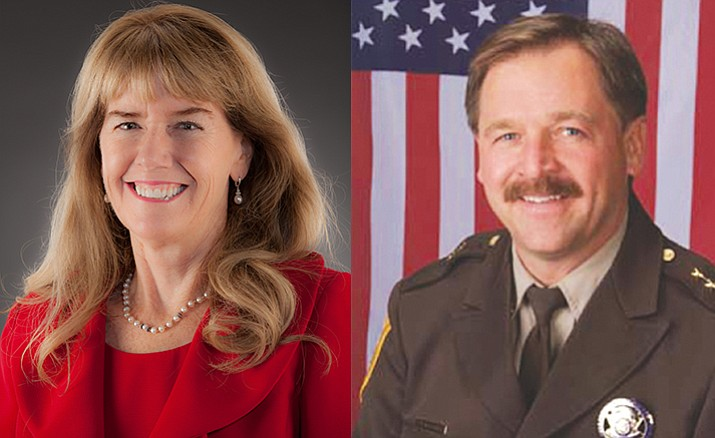 Yavapai County Attorney Sheila Polk and Yavapai County Sheriff Scott Mascher