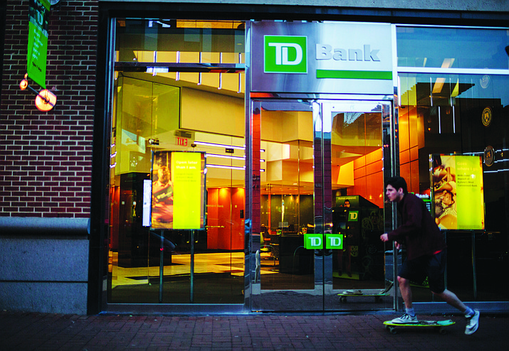 This Nov. 12, 2017, photo shows a TD Bank storefront in Philadelphia. African American and Latino borrowers are more likely to get turned down by TD Bank than by any other major mortgage lender. The bank turned down 54 percent of African American homebuyers and 45 percent of Latino homebuyers, more than three times the industry averages. (Sarah Blesener/Reveal via AP)