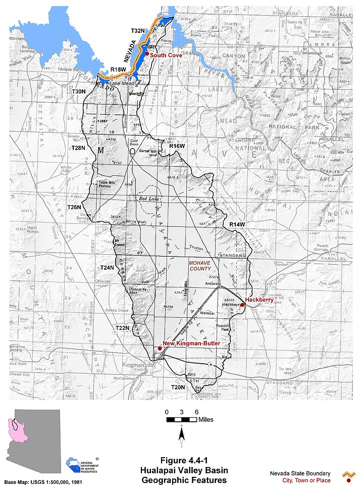 Hualapai Valley Basin Geographic Features
