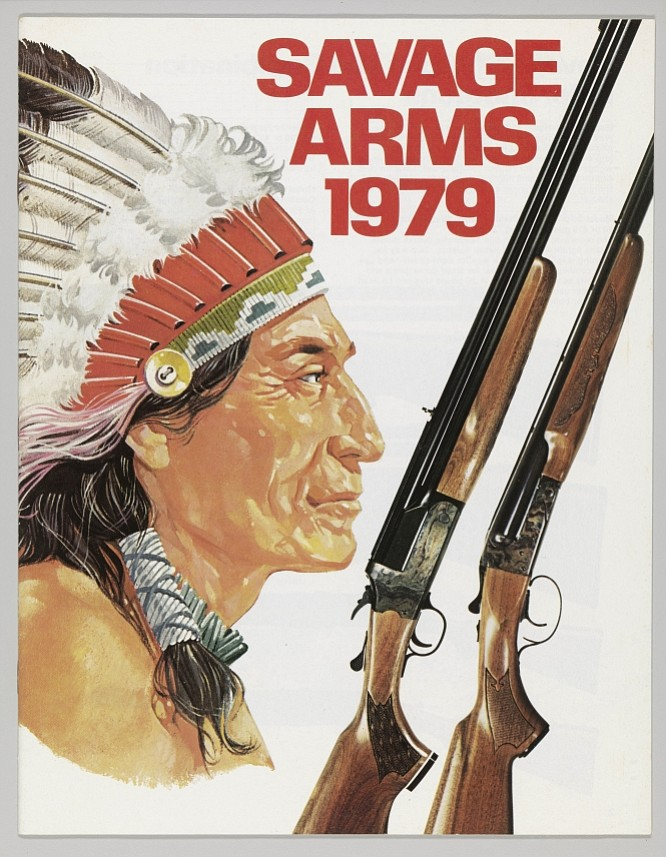 According to Savage Arms company history, its logo was the result of a deal in 1919. An Indian chief named Lame Deer negotiated a discount for rifles. In return he offered his tribe's endorsement and an Indian-head logo. Savage Arms catalog, 1979.