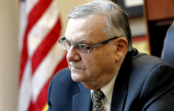 During 24 years as metro Phoenix's top law enforcement officer, then-Sheriff Joe Arpaio -- now a candidate for U.S. Senate -- was the target of many lawsuits over the treatment of inmates in Maricopa County jails. He is pictured Jan. 10, 2018, in his office in Fountain Hills, Arizona.  (AP Photo/Matt York)