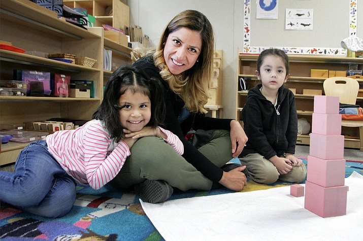 Rosie McClain, known as Miss Rosie at the Montessori Children's House in Camp Verde, has been a certified Montessori teacher for the past 12 years. (Photo by Bill Helm)