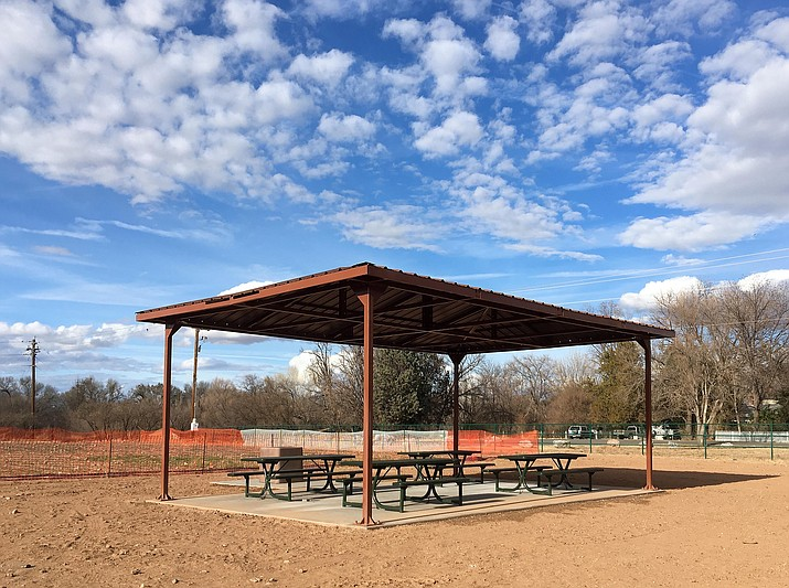 Thanks to $25,000 in grants from the Nature Conservancy and the Bonville Environmental Foundation, as well as Capital Improvement Plan funding from the Town of Camp Verde, Rezzonico Family Park has been given a facelift in the form of two ramadas. (Photo by Bill Helm)