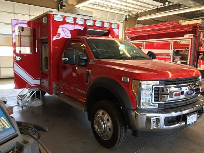 Yuma Fire Chief Steve Irr discovered a new ambulance typically costs $210,000. The city elected to buy a new chassis from an auto dealership and build their own, which saved the city of Yuma about $70,000. (City of Yuma Fire Department)