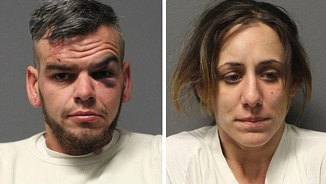 Stephen Garcia, 31, and Darlene Clapperton, 24, were arrested in connection with a fight in Ash Fork Feb. 16.  (YCSO photo)