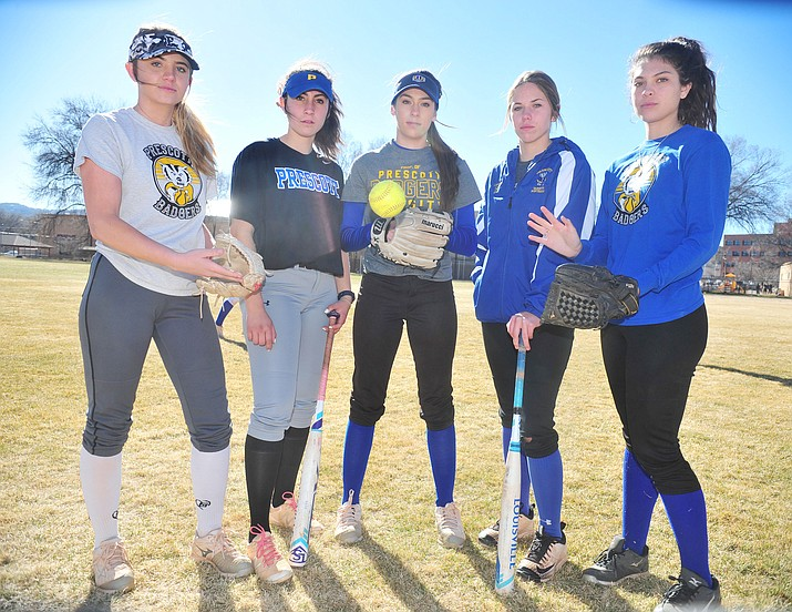 Infielders McKynzie Hyslip, Bekah Norris, Francesca Larson, Morgan Little and Tessa Eppele are expected to lead the Prescott softball team in 2018.