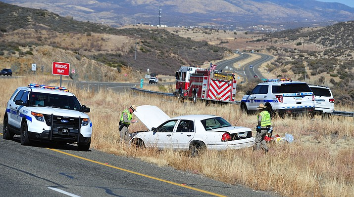 The lone occupant of a white four-door sedan was found dead at the scene of a single vehicle accident along Highway 69 in Dewey Thursday afternoon, Feb. 22.