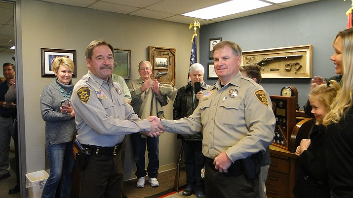 Sheriff Scott Mascher, left, and Donny Oen. (Courtesy)