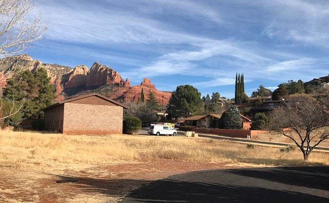 The Verde Valley Habitat for Humanity's Sedona Blitz Build will construct three homes in two weeks on this property on Peach Lane in Sedona. (Photo courtesy of VVHH)