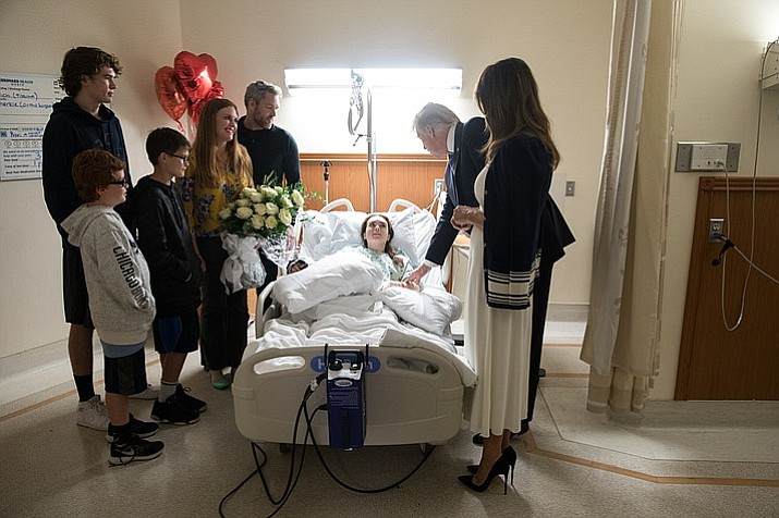 President Donald J. Trump and First Lady Melania Trump visit Marjory Stoneman Douglas High School student Maddy Wilford and her family. (Official White House Photo by Shealah Craighead)