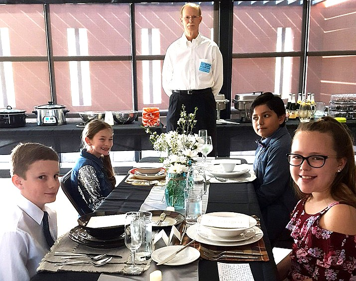 Big Park School  fifth graders attended their Annual 5th Grade Manners Luncheon.  The parents prepared the decorations and food, and they studied conversational skills and table manners.