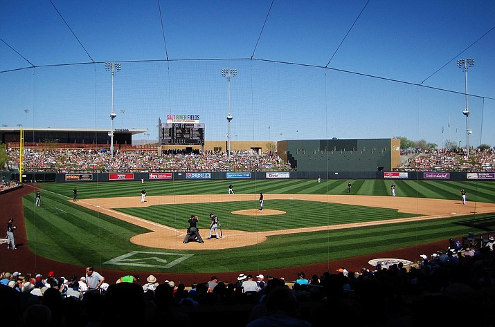 Salt River Fields at Talking Stick hosts the Arizona Diamondbacks' and Colorado Rockies' spring training. The NL West rivals moved their spring training from Tucson to there in 2011. (VVN/Bill Helm)
