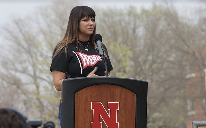 Victim-turned-advocate Brenda Tracy speaks to colleges around the country about violence on campus involving athletes. (Photo courtesy University of Nebraska)