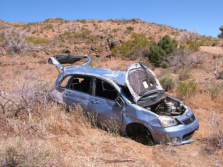 There has been plenty of trash picked up in the deserts of Mohave County, including this car. There are three Cactus Cleaners groups (Golden Valley, Kingman and Dolan Springs) that are leading the charge with community-based efforts to clean up the desert. For more information on these groups, call Wayne Hollins at 253-306-4378.