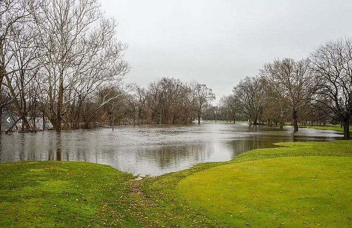 The Kalamazoo River has started to recede, according to the City of Kalamazoo, Michigan Facebook page.