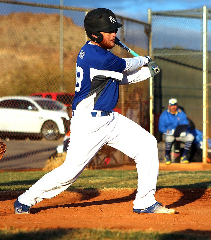 Kingman Academy's Peter High finished 2-for-3 with three RBIs Tuesday in a 7-5 win over River Valley.