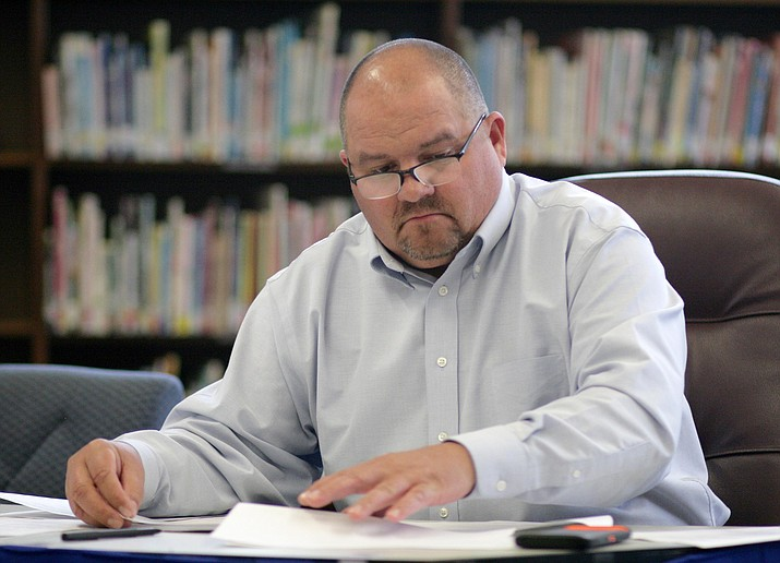 Thursday, the Camp Verde school board could choose to extend Danny Howe's assignment as administrator-in-charge through the 2018-2019 school year. A 27-year employee of the district, Howe has been principal at Camp Verde Middle School for the past eight years. (Photo by Bill Helm)