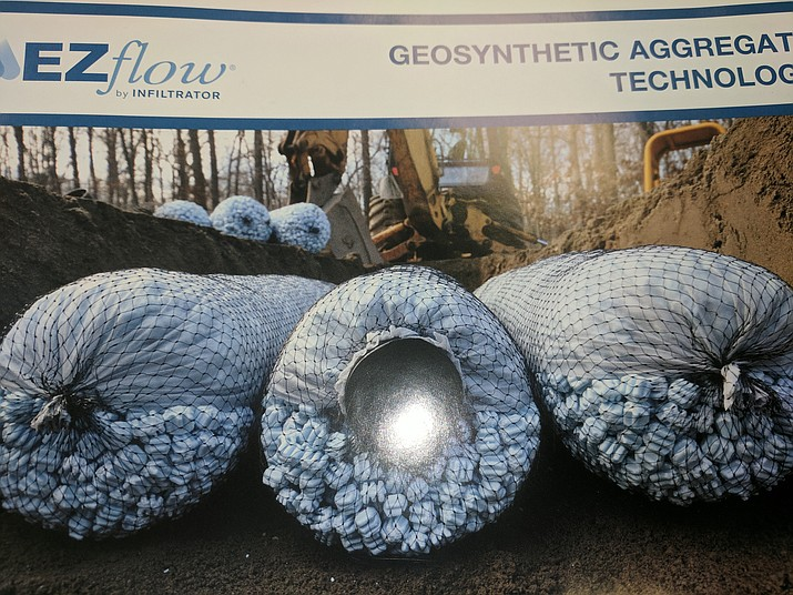 EZflow, by Infiltrator, is a new, environmentally friendly product for septic tank drain-fields, an alternative to traditional stone and pipe drain fields. (EZflow/Courtesy)